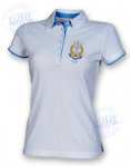 Women's 2colour superior fitted polo- FJRNLogo